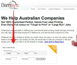 Barney's Labels Launches Unique Online Quote Calculator to Offer Label Printing Quotes Instantly for Competitive Print Prices Plus Free Shipping to Anywhere in Australia