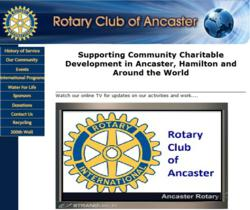 Ancaster Rotary Implements Innovative StrandVision Digital Signage Installation - No Sign