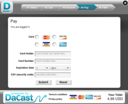 DaCast Launches Pay-in-Play Capability for Video