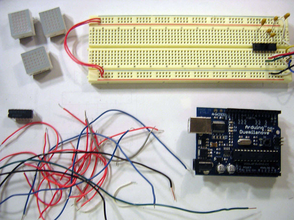 Using a Dot Matrix LED with an Arduino and Shift Register
