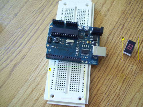 Wire the 7-Segment LED Display