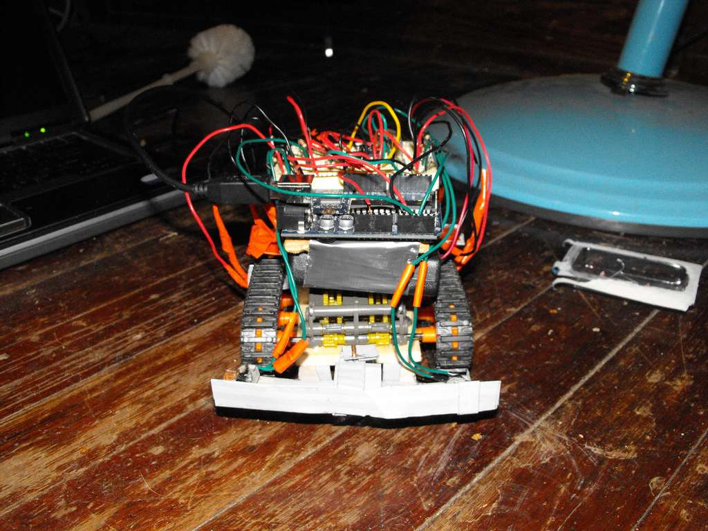 robot with an Arduino as a brain