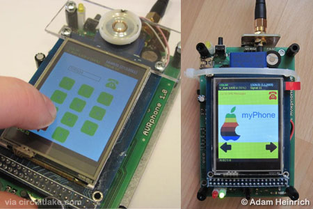 AVR Based Mobile Phone using AVR ATmega128A microcontroller