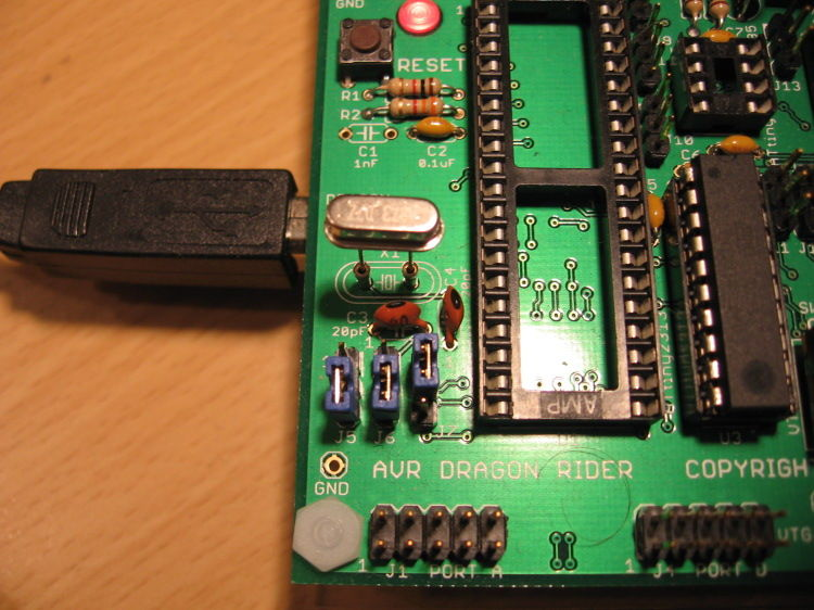 How to use the Dragon Rider 500 with your AVR Dragon using ATtiny2313 microcontroller