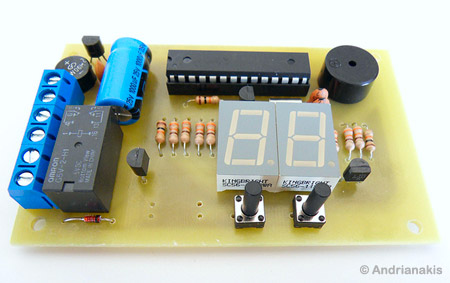 AVR Switch Timer using ATmega8 Microcontroller