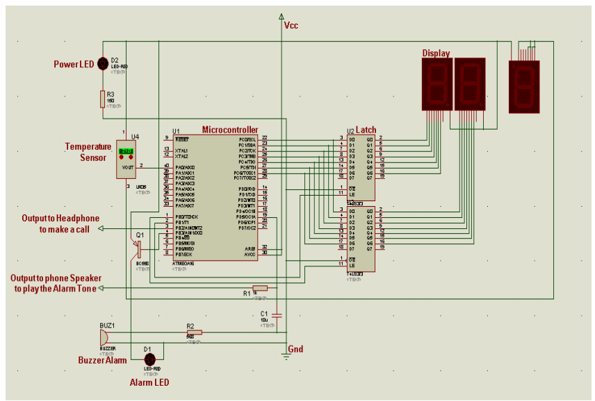 Advance Fire Alarm through Mobile Phone using microcontroller
