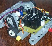 Flapper cleaning robot atmel at90ls8535 insect robot