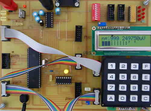 Computer connected Flower Water Circuit using ATmega8 microcontroller