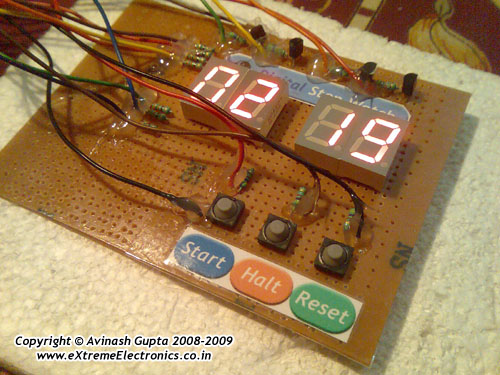 Digital Stop Watch with ATmega8 using microcontroller