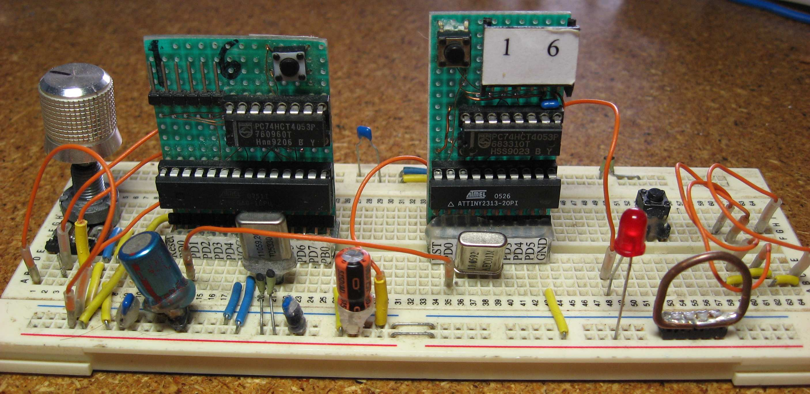 Easy Breadboarding using ATMega microcontroller