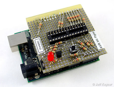 AVR High Voltage Programmer Using Arduino AVR microcontroller