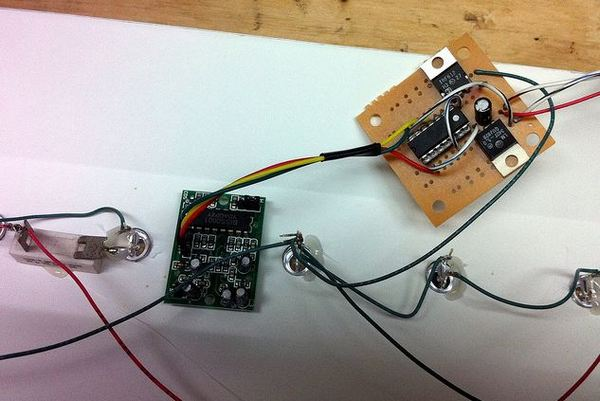 Experimental board using ATTiny2313 microcontroller