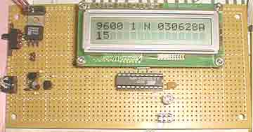 Serial interface with 2X16 LCD display using ATMega8515 microcontroller