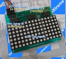AVR ATmega8 Project LED Moving Message Display using ATmega8 microcontroller