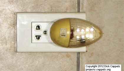 A White LED Night Light Design