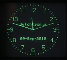 Dutchtronix AVR Oscilloscope Clock using  Atmega328 microcontroller