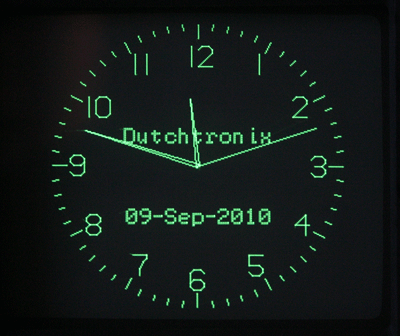 Dutchtronix AVR Oscilloscope Clock using  Atmega328 microcontroller
