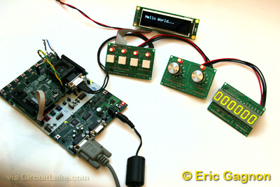 Modular User Interface System using ATMega88 microcontroller