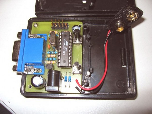 VGA monitor tester using ATTiny2313 microcontroller
