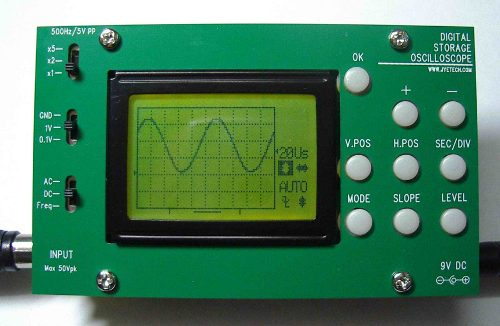 Oscilloscope using AVR microcontroller