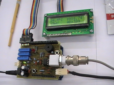 HF AC Millivoltmeter Adapter using microcontroller