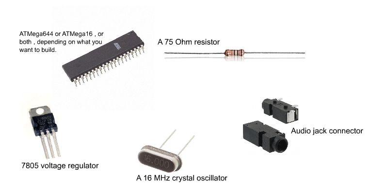 ISP Breadboard Header using AVR microcontrollers