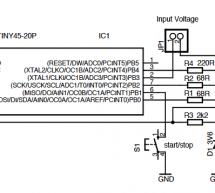 Easy Data Logger with Virtual USB using ATtiny45 microcontroller