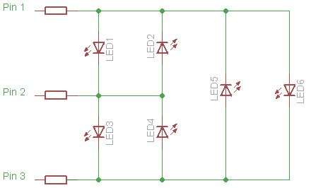 Creating a charlieplexed LED grid to run on ATTiny85
