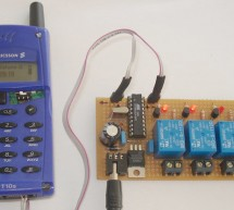 SMS control 4 way remote control relays using ATtiny2313 microcontroller