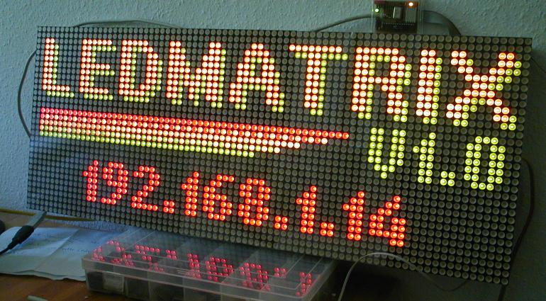 80x32 LED matrix display using ATmega32 microcontroller