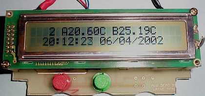 8 channel LCD Teperature meter using microcontroller