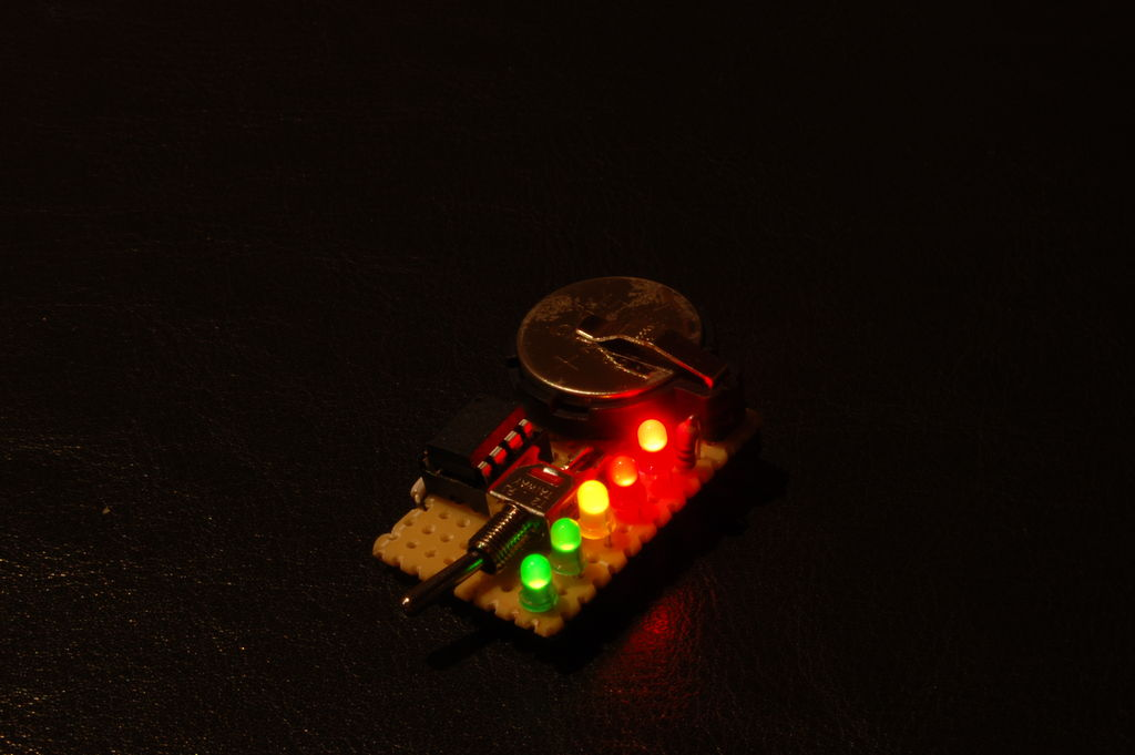 Ambient Light Gift Badge using ATTiny13 microcontroller