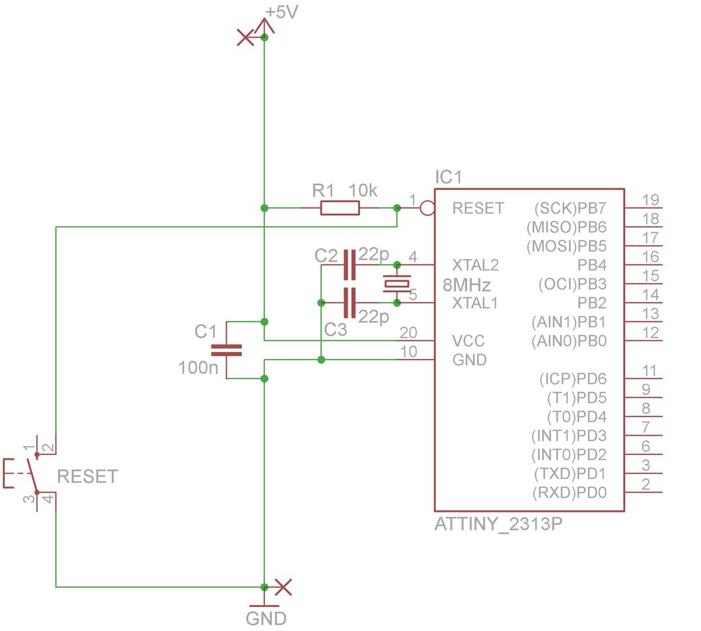 Make a breadboard adapter for your AVR microcontroller using attiny2313