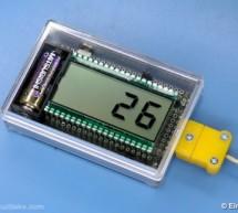 AVR Thermocouple Temperature Meter using ATmega164 microcontroller