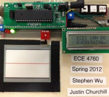 AVR Touchpad Handwriting Recognition using ATmega644 microcontroller