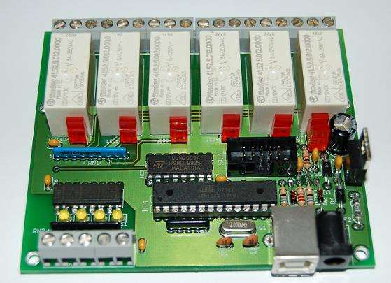 Control Relay Card with USB port Atmel using Atmega8 microcontroller