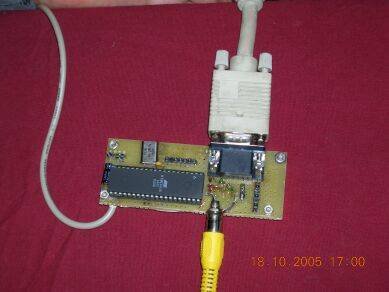 VGA Monitor adaptor using AVR microcontroller