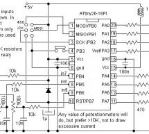 10 Bit analog to digital converter using ATtiny26 microcontroller