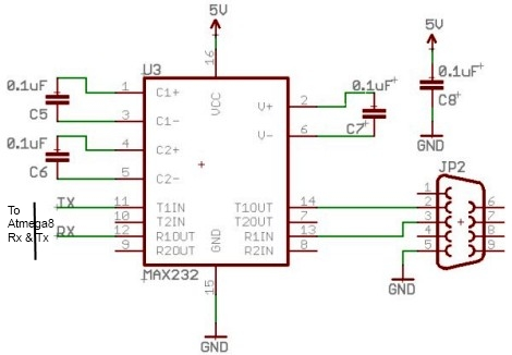 Dotmatrix using ATtiny2313 microcontroller