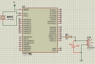 Temperature Sensor Using ATmega8 and display using LCD(16×2)