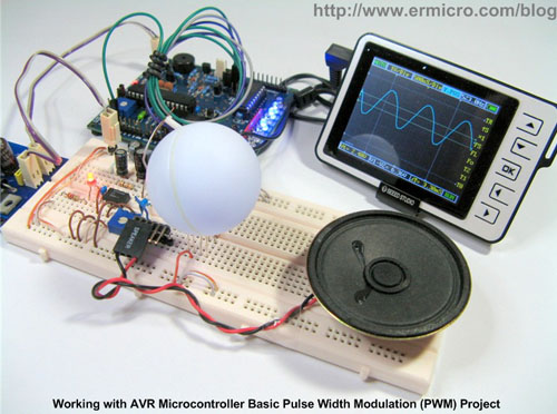 AVR RGB LED and Sound Show using ATmega168 microcontroller