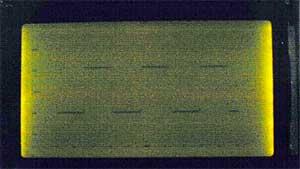 G1216B1N000 dot graphics display using AT90S2313 microcontroller