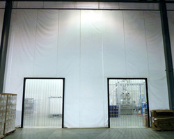 Quickly, Affordably Zone Off Production Lines for Cleaning; Minimize the Potential for Cross Contamination with ZONEWORKS(R) SCW Wash-down Curtain Wall