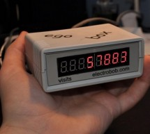 A physical display device for website visitors based on Atmega168