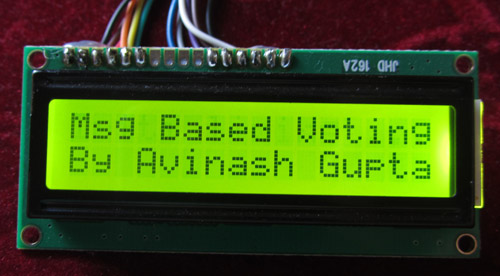 SMS Based Voting System – AVR GSM Project using ATmega32 microcontroller