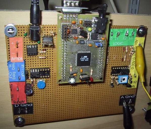 A multifunction digital meter using Atmega128 microcontroller