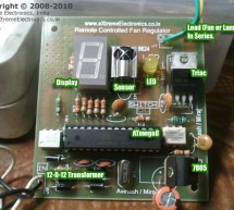 Remote Controlled Fan Regulator using ATmega8 microcontroller