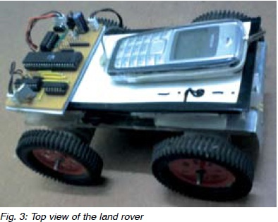 Cellphone controlled robot vehicle using ATmega16 microcontroller