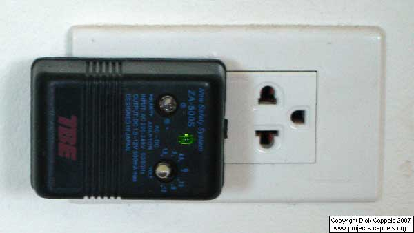 White LED Battery Powered Power Failure Light