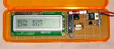 Minimum Mass Wireless LCD Display using ATtiny2313 microcontroller